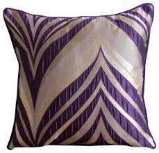 Purple Jacquard Weave Textured Pintucks Pillow Covers Purple