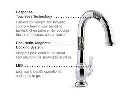 Kohler Touchless Faucet Battery by K 99332 Beckon Electronic Pull Down Kitchen Faucet Kohler