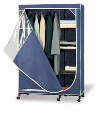 Furniture Wardrobe Clothes Rack Portable Hanger Movable Wardrobe