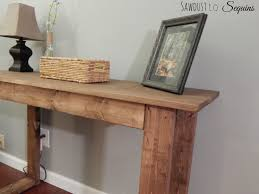 25 console table with free plans sawdust to sequins