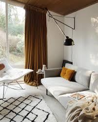 100 Ochre Home Living Room With Ochre Velvet Curtains 70s Style Home