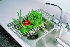 Oxo Over The Sink Colander by Walter Drake Over The Sink Dish Drainer Rack Best Sink Decoration