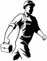 Construction Work Black And White Clipart 1