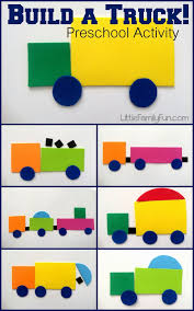 Build A Truck! Fun Way To Review SHAPES With Preschoolers. Truck ...