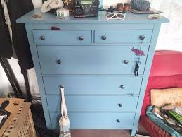 gorgeous chest of 6 drawers ikea hemnes shabby chic blue no