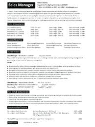 Example Of Great Resume 2016 As Well Sales Manager Examples On