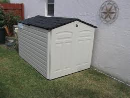 Rubbermaid Slide Lid Shed Instructions by Rubbermaid 6 Ft 6 In X 5 Ft Slide Lid Shed 1800005 At The Home