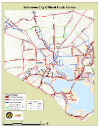 100 Truck Route Map Baltimore City Official S