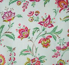 Jacobean Floral Country Curtains by Blue Jacobean Floral Linen Fabric Fleur De Leaf True Blue Loom