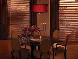 A Formal Dining Room With PirouetteR Window Shadings