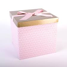 Grey Gold Dot Metallic Square Trinket Box
