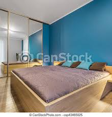 schlafzimmer mit doppelbett blaues schlafzimmer mit