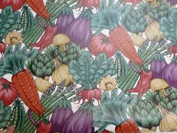 Retro Garden Vegetable Food Wallpaper Bolt 56 Sq Ft Weird Funky Kitchen Decor SeabrookDesigns