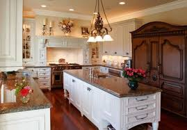 traditional home kitchen lighting with ceiling and pendant