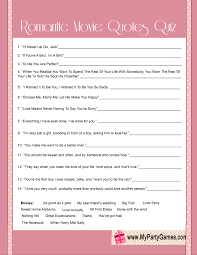 Bridal Shower Qoutes by Bridal Shower Romantic Movie Quotes Quiz