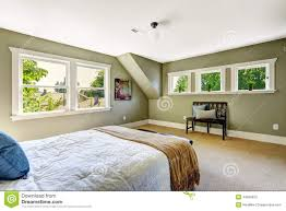 100 Bedroom Green Walls With And Vaulted Ceiling Stock Image