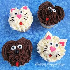 Chocolate Dog Cupcakes And Vanilla Cat