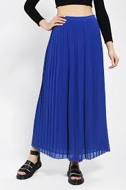 urban outfitters sparkle fade pleated chiffon maxi skirt in blue