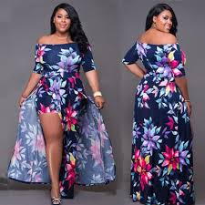 women plus size floral romper dress evening party bodycon