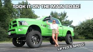 99 Youtube Truck GIRLFRIEND Learns STICK SHIFT In My LIFTED HUGE Diesel