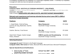 chef de rang duties sles of a resume images gallery popular term paper
