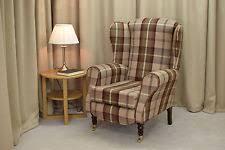tartan armchairs ebay