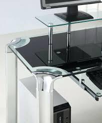Techni Mobili L Shaped Computer Desk by Computer Desk Glass Top U2013 Uvoke Co
