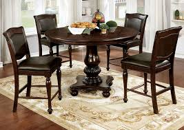 100 Cherry Table And 4 Chairs Paradise Home Furniture Alpena Brown Espresso Round Counter