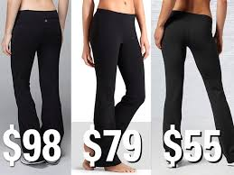 Comparing Yoga Pants Lululemon Reebok Athleta