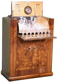 photo of deco drinks cabinet cocktail chest 1920s furniture