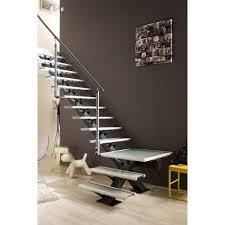escalier 2 quart tournant leroy merlin escalier quart tournant mona structure aluminium marche verre