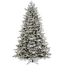 Pre Lit Pencil Christmas Tree Walmart by Christmas Shop Ge Ft Pre Lit Alaskan Fir Flockedificial