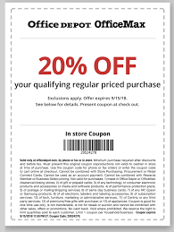 Office Depot/ Office Max 20% Off Regular Priced Item In ... Bed Bath And Beyond Online Coupon Code August 2015 Bangdodo Or Promo Save Big At Your Favorite Stores Zumiez Coupons Discounts Where To Purchase Newspaper Walmart Photo Coupon Code August 2018 Chevelle La Gargola Kohls 30 Off Entire Purchase Cardholders Get 20 Off Instantly Gymshark Discount Codes September Paypal Credit 25 Jcpenney Coupons 2019 Cditional On Amazon How To Create Buy 2 Picture Wwwcarrentalscom Joann In Store Printable
