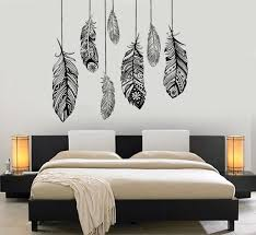 Wall Vinyl Decal Ethnic Love Feather Romantic Decor For Bedroom Mural Art 1484dz