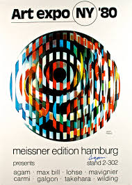 Agam Meissner Art Expo NY 80 Fine Show Poster Hand Signed By Artist Yaacov