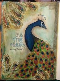 Painted Peacock Art Journal Page