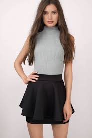 cheap black skirt black skirt high waisted skirt black flare