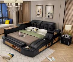 2020 moderne bett design schlafzimmer möbel muebles de dormitorio leder bett rahmen betten schlafzimmer sets cama leder bett rahmen