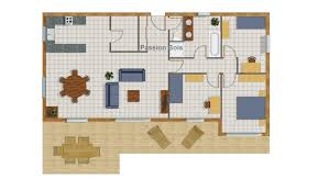 plan maison en bois gratuit cuisine bois maison chalet massif les vans ardã che plan
