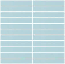 glass tile 1x6 inch light aqua blue frosted glass subway tile