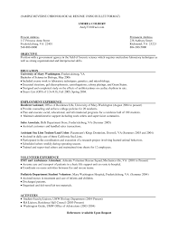 Remarkable Chronological Resume Template Sales Associate Example Free