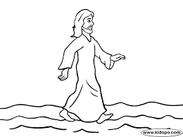 Free Jesus Walking On The Water Printable And Online Coloring Page