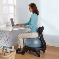 Physio Ball Chair Base by Furniture Alluring Gaiam Balance Ball Chair For Comfy Home