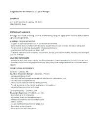 Sample Hotel Manager Resume For