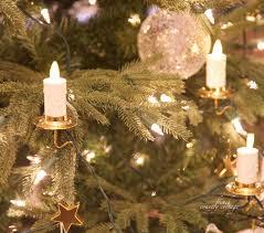 Candle Christmas Tree Ornaments LED