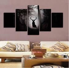 großhandel set hirschhaus wanddekoration gemalte wand kunst leinwand gedruckt malerei wohnzimmer schöne gemälde wandmalerei oilpainting520