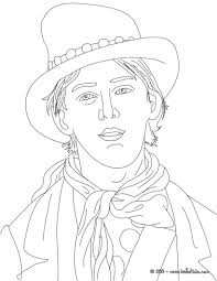 BILLY THE KID Coloring Page