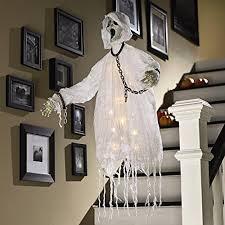 floating ghost hanger lighted led skeleton halloween