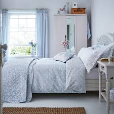 Fledgling Light Blue Floral Bedding at Bedeck 1951
