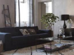 déco canapé noir photo décoration salon avec canapé noir par deco